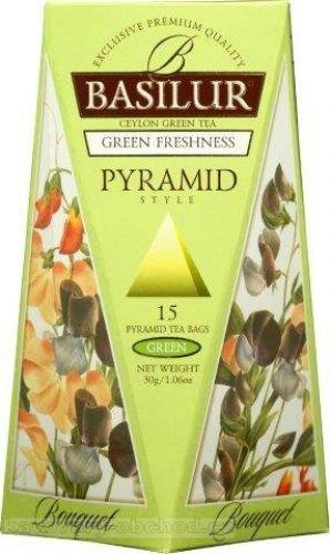 Čaj Basilur zelený - pyramidové sáčky
