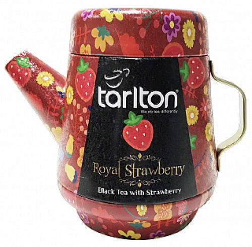 Čaj černý s kousky jahod Tarlton konvička