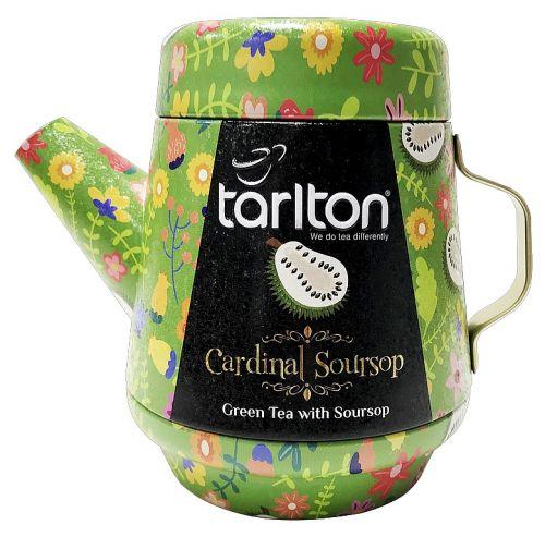 Čaj zelený s graviolou Tarlton konvička plech