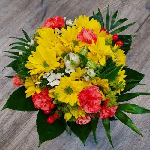 Žluté chrysanthemy v mixu