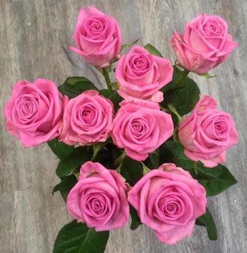 Kytice růžových růží 70cm dlouhé